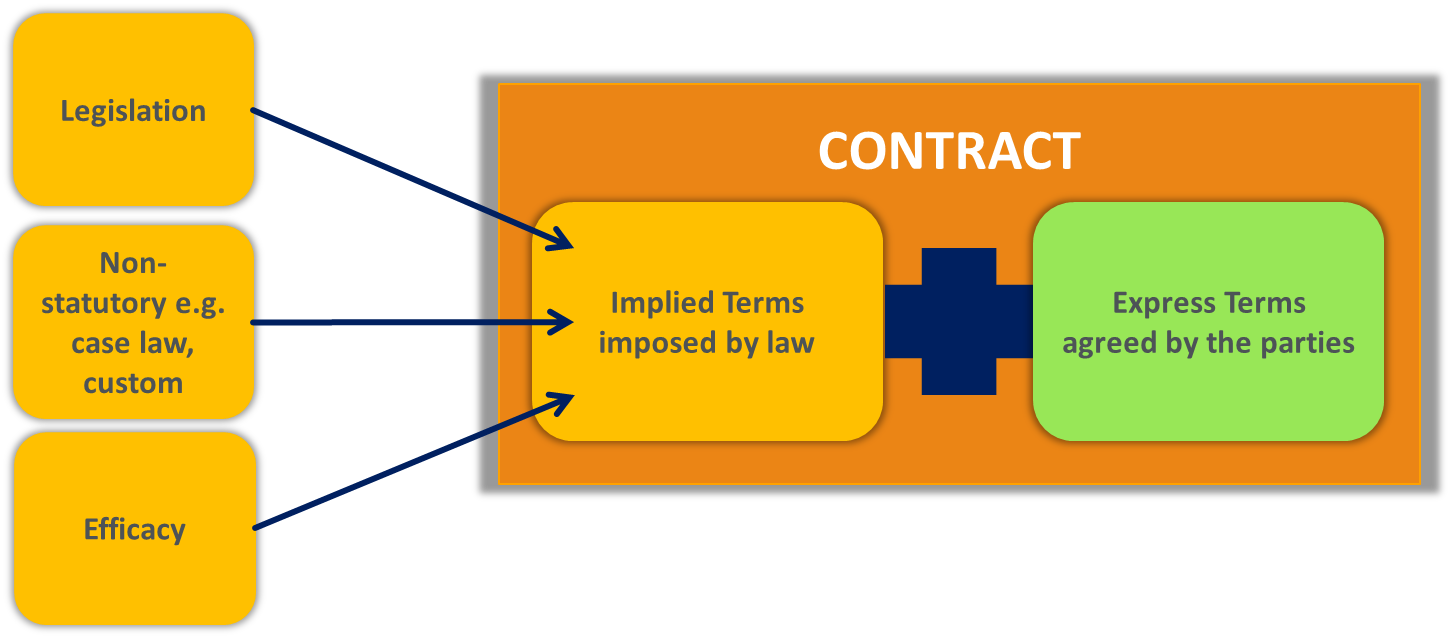 Terms in the contract