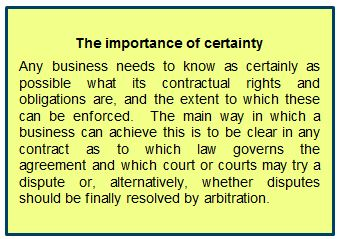 The importance of certainty